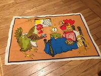 Cute Rooster Tea Towel