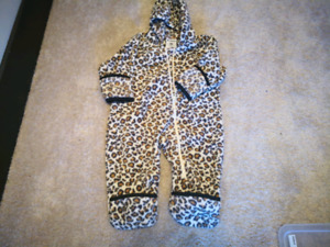 Baby winter fleece  snuggle full suit 12 months