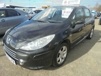 2007 Peugeot 307 1.6HDi ( 110bhp ) MY S TWO KEEPERS SERVICE HISTORY FULL MOT
