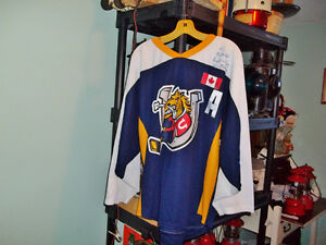Minor hockey Barrie Colts game played jersey W Gretzky signed