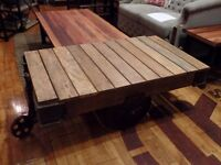 Table basse style chariot industriel