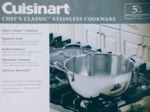 CUISINART 5.5 quart Multi-Purpose Pan with glass Cover