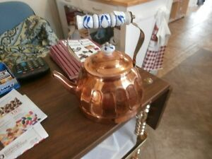 Vintage Copper & Porcelain Kettles at KeepSakes Antiques Shoppe