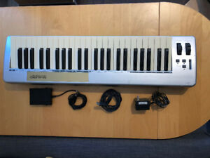 M-Audio 49e USB MIDI Controller Keyboard and sustain peddle