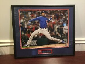 Chapman Autographed and Framed Pic 20'' x 24'' frame