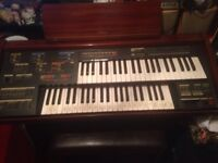 YAMAHA ELECTONE ORGAN WITH STOOL FULL OF MUSIC BOOKS IN WORKING ORDER