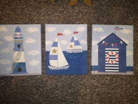 Canvas set of 3 - Beach / Sea