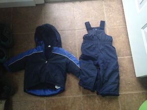 Boys fall and winter clothes and snow suits