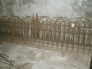Antique Cast Iron Bow & Hairpin Fence