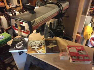 Scie radiale etc./Radial arm saw + accessories
