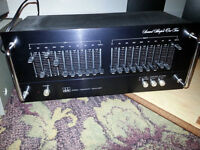 mix of old and new stereo equipment