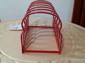 John Lewis red metal toast rack New