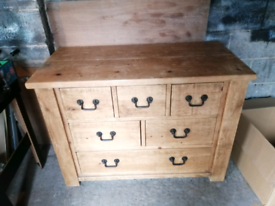Solid wood chest of drawers /side board