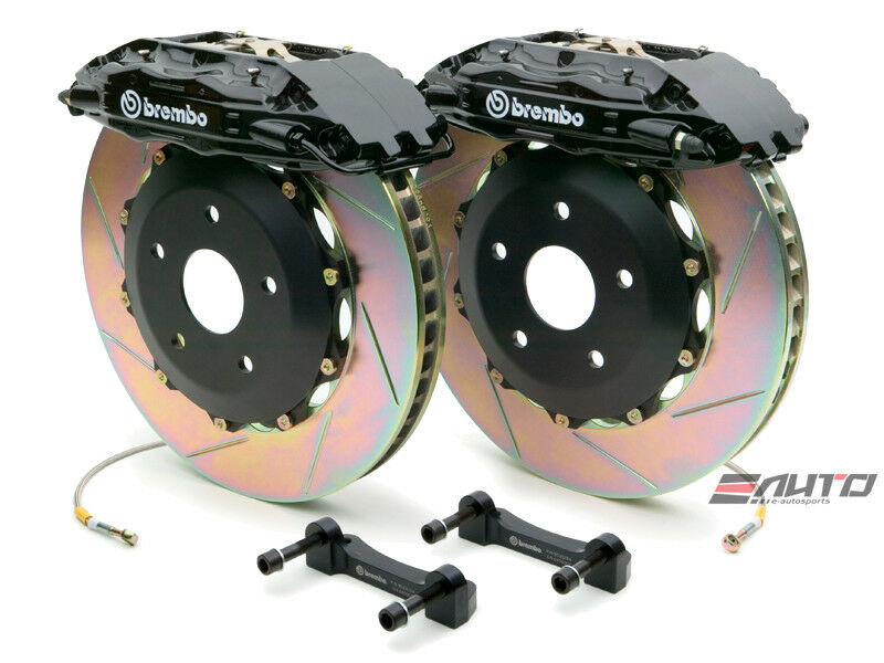 Brembo Front GT Big Brake Kit BBK 4piston Black 355x32 Slot Disc S6 C5 98-01