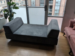 Grey West Elm Tillary Modular Sofa - Sofa bed option