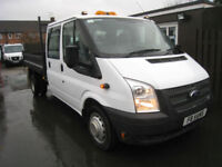 64 reg Ford Transit 350 double cab tipper 6 speed