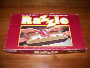 Vintage RAZZLE game-Educational and addictive word game