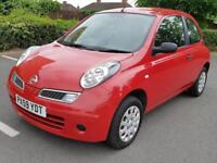 Nissan Micra 1.2 16v Visia manual petrol Red 2009 3dr FSH GC 2 Keys Warranty