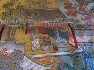 Gorgeous, Exquisite Chinese Mulberry Silk Tablecloth-Many Scenes