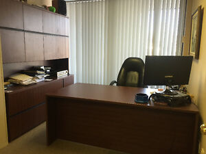 Executive's Office Desk & Credenza  *Plus Furniture to Sell Fast