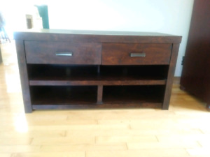 T.V. stand/Fireplace/ sewing machine desk.
