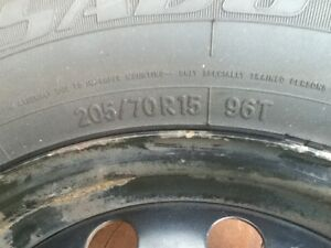 4 summer tires on rims. Oakville / Halton Region Toronto (GTA) image 3