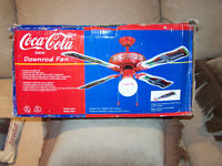 Rare COCA - COLA Ceiling  Light Fixture Fan