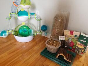 Cage et accessoires complets pour hamster nain