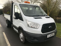 2015 15 FORD TRANSIT TIPPER 2.2TDCI 350 L2 MWB 125BHP 1 OWNER ANY UK DELIVERY