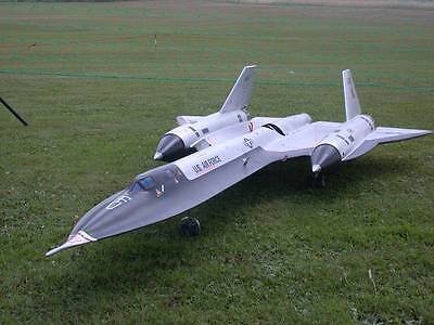 "1/12 Scale SR-71 BLACKBIRD scratch build Rc Plane Plans 55.5""WS DUCTED FAN POWER"