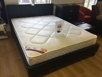***BRAND NEW*** double leather bed frames only £95 or £195 complete with mattress