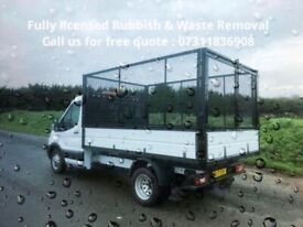 FULLY LICENSED RUBBISH & HOUSE CLEARANCE-JUNK REMOVAL-BUILDERS WASTE-OFFICE-GARAGE-GARDEN-MAN & VAN