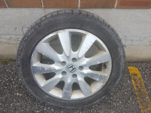 Winter Tire With Honda Rims Package - 215/50/17