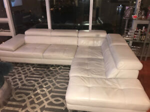 Used Leather Sectional