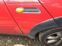 Mini Cooper 2001 Red Drivers Side Wing