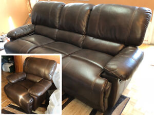 3-Seat Reclining Sofa and Recliner for Sale!