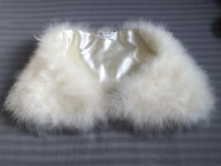 New white marabou feather coverup