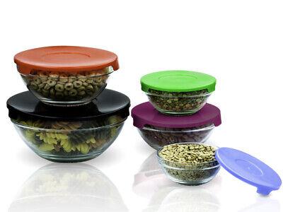 Rubbermaid 5 Pc Storage Food Container Lids Plastic Glasswar