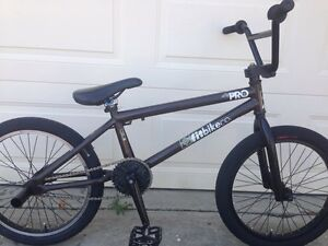 "Fit BMX Bike, 20"" alloy wheels, pegs, 20.5"" top tube"