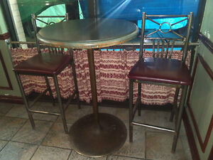 Variety of tables & chairs from former restaurant