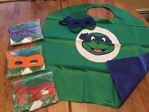 New in packages tmnt capes and masks