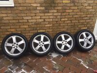 "FORD FOCUS ZETEC 17"" ALLOY WHEELS AND TYRES TRANSIT CONNECT MONEDO 205-50-17"