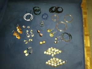 Earrings, pins and brooches