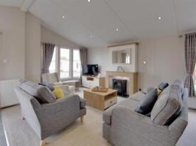 Willerby Pinehurst lodges for sale at Romney Sands in Kent - Includes decking