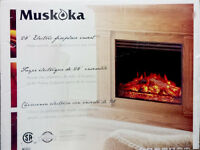 New in the box Electric FirePlace Insert 28'' Muskoka