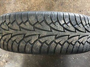 Used winter tires with alloy rims Kitchener / Waterloo Kitchener Area image 2