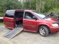 2005 grand caravan wheel chair van