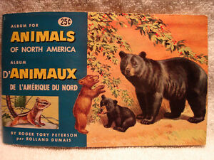 Vintage1960's Red RoseTea Animals of N America Card Collection