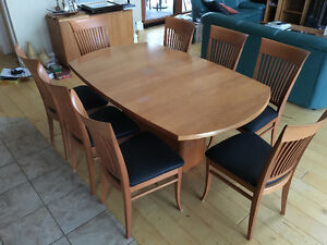 Cherrywood Skovby Dining Table + 8 Chairs
