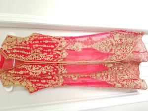 Fuschia Pink Palazzo Indian Outfit